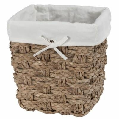 CreativeWare Chunky Weave 2-Ply Waste Basket, Natural