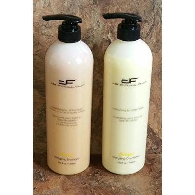 De Fabulous Shampoo and Conditioner Ginger Set 33oz Sulfate Free for Keratin Treatment