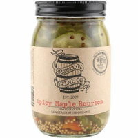 Brooklyn Brine Spicy Maple Bourbon Pickles - 16 oz - Made with Bourbon Whiskey