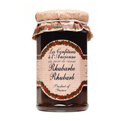 Rhubarb Jam Andresy All natural French jam pure sugar cane 9 oz jar Confitures a l'Ancienne, One