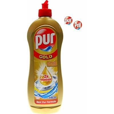 Pril (Pur) GOLD by Henkel - Double Concentrated Dishwashing Liquid 700ml (PACK OF 4) [Equals 8 x 700ml]