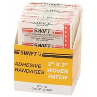 North by Honeywell 016423 Woven Patch, 2-Inch x 3-Inch, 40 per box