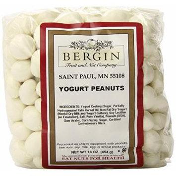 Bergin Nut Company Yogurt Peanuts, 16-Ounce Bags (Pack of 3)
