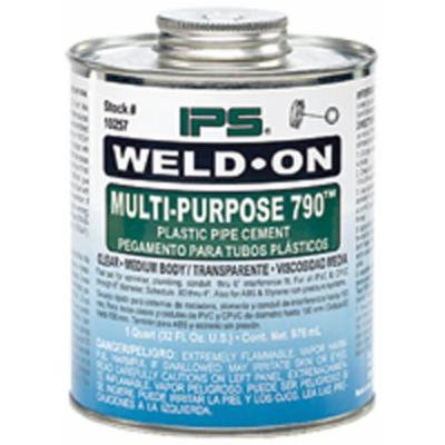 Weld-On 790 Multi-Purpose Clear Medium Body Cement