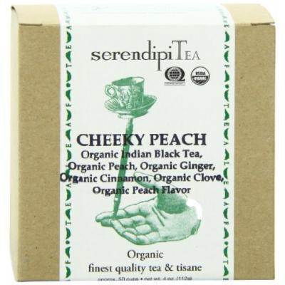SerendipiTea Cheeky Peach, Organic Peach, Cinnamon, Clove, Ginger & Indian Black Tea, 4 Ounce Box