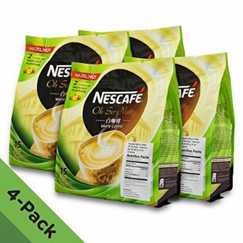 4 PACK - Nescafé Ipoh White Coffee HAZELNUT (60 Sachets TOTAL) -