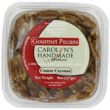 Carolyn's Handmade Gourmet Deli Tub, Spicy Cumin Cayenne Pecans, 8 Ounce