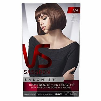Vidal Sassoon Salonist Hair Colour Permanent Color Kit, 4/4 Dark Auburn