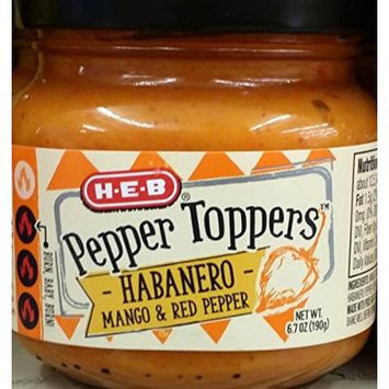 HEB Pepper Toppers 6.7 Oz (Pack of 3) (Habanero Mango & Red Pepper)