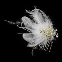 IVORY Feather Bridal Hair Headpiece