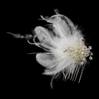 IVORY Feather Bridal Hair Headpiece