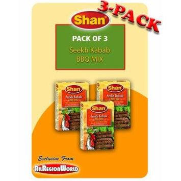 Shan Seekh Kabab BBQ Mix Masala Seasoning 1.75oz., 50g (3-Pack) Free Recipe Included Exclusive From AllRegionWorld