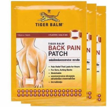 3 Pack Tiger Balm Back Pain Patch (6 Plasters)