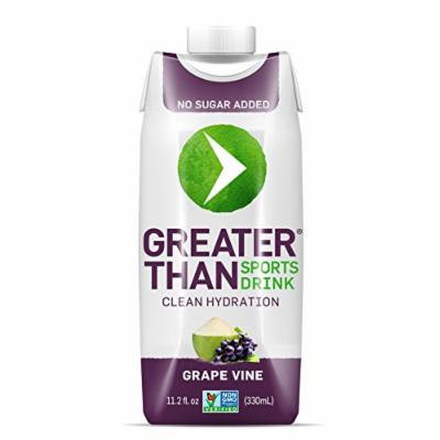 Greater Than Sports Drink, Grape Vine, 11.2 Ounce (Pack of 12)