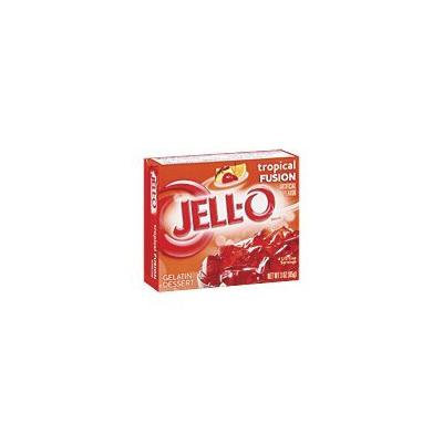 Jell-O Gelatin Dessert, Tropical Fusion, 3-Ounce Boxes (Pack of 4)