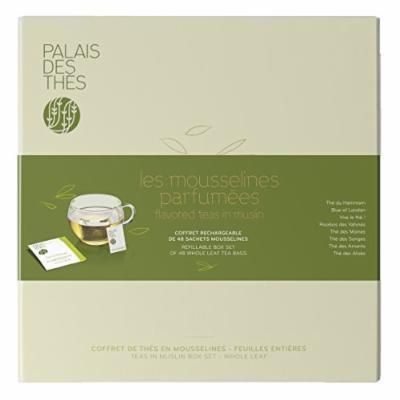Palais des Thés Assortment of 8 Flavored Teas in Muslin, 48 Tea Bags