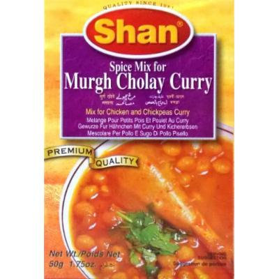 Shan Murgh Cholay Curry Mix - 50 Gms X 6 Pcs