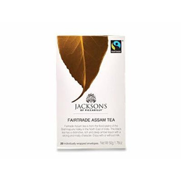 Jacksons of Piccadilly Fairtrade Assam Teabag (20 Individually Wrapped Tea Bags)