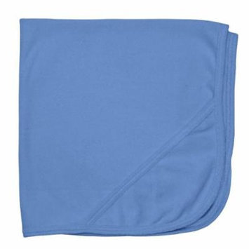 Organic Knitted Terry Hooded Towel Blue