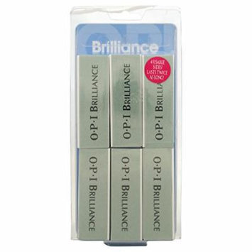 Opi Brilliance Block Nail File, 6 Count