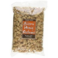 Trader Joe's Sesame Honey Cashews 16 oz, 1 Lb.