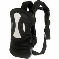 Beddinginn Comfortable Four Carry Ways Front and Back 3-12 Months Baby Carriers (Black)