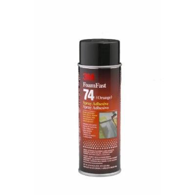 3M Foam Fast 74 Spray Adhesive Orange, 16.9 fl oz Aerosol Can (Pack of 1)