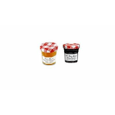 Bonne Maman Duo Mini Jars - 1 Oz X 30 Pcs (15 Apricot, 15 Cherry)