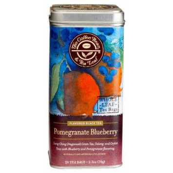 The Coffee Bean & Tea Leaf Pomegranate Blueberry Green, Oolong, Black Teas, 20-Count Filter Bags