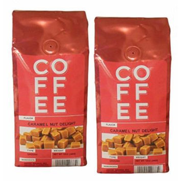 Caramel Nut Delight Ground Coffee 12oz Bags 2 Pack