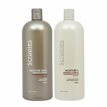 Scruples Moisture Bath Shampoo & Moisturex Conditioner 33.8oz Duo