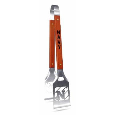 NCAA Navy Grill-A-Tongs, Heavy Duty Stainless Steel BBQ Grill Tongs