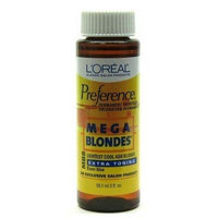 L'Oreal Preference # MB8 Mega Blonde-Light Cool Ash Blonde (3-Pack) with Free Nail File