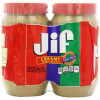 Jif Creamy Peanut Butter, 48 Ounce, 2 count