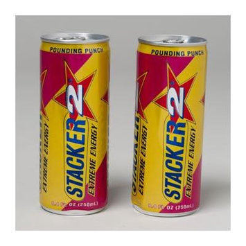 ENERGY DRINK 8.4 OZ CAN PUNCH STACKER 2, Case Pack of 24