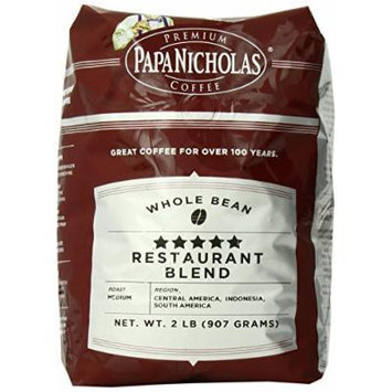 PapaNicholas Coffee Whole Bean Coffee, 5-star Restaurant Blend, 2 Pound