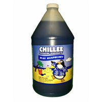 Chillee Snow Cone Syrup, Blue Raspberry, 128 Ounce (pack of 4)