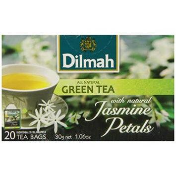 Dilmah Green Tea with Jasmine Petals, 1.06 Ounce Box