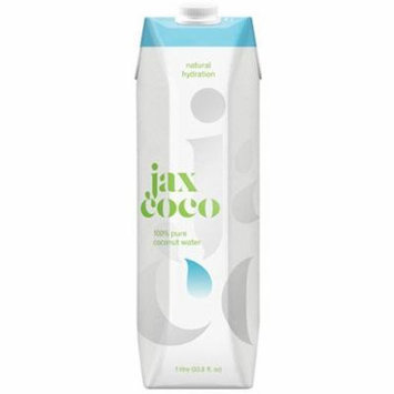 Jax Coco 100% Pure Coconut Water,33.8 Fluid Ounce (Pack of 12)