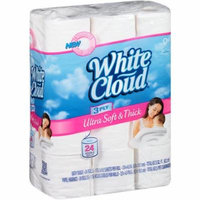 White Cloud Ultra Soft & Thick Double Roll 3 Ply Bathroom Tissue - 24 Double Rolls