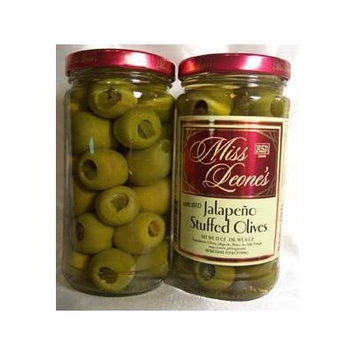 Jalapeno Stuffed Gourmet Queen Spanish Olives 12 oz. Jar