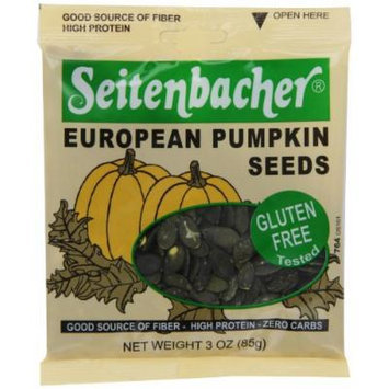 Seitenbacher European Pumpkin Seeds, 3-Ounce Bags (Pack of 12)