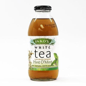 Inko's Ready to Drink White Unsweetened with Mint Tea 16 oz. (Pack of 12)