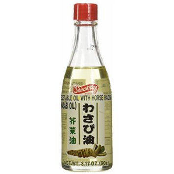 Shirakiku Vegetable Oil with Horse Radish (Wasabi Oil) in 3.17oz Bottle