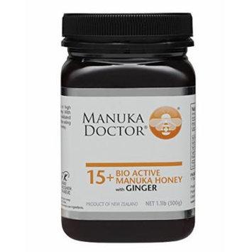 Manuka Doctor Bio Active Honey, 15 Plus with Ginger, 1.1 Pound