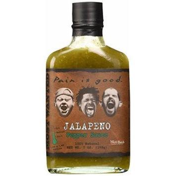 Pain Is Good Jalapeno Pepper Sauce, Medium, 7 Ounce
