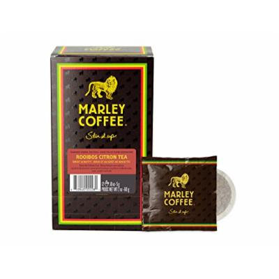 Marley Coffee and Tea, Rooibos Citron Tea Pods, 12 Count