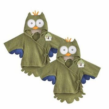 Baby Aspen Terry Cotton Hooded Baby Bath Robe, Twin Pack, Owl