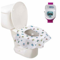Potty Watch Potty Training Timer, Pink with Potty Protectors, 20 Pack