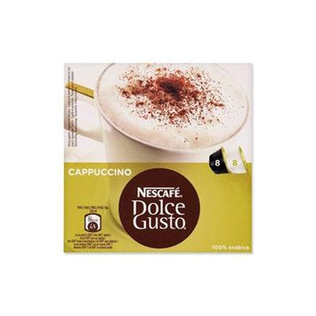 Nescafe Dolce Gusto for Nescafe Dolce Gusto Brewers, Cappuccino, 16-Count Capsules (Pack of 3)